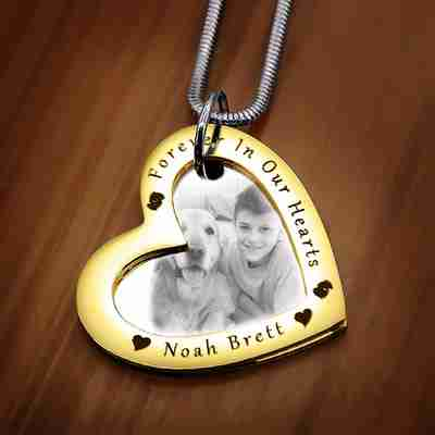 Love Forever Photo Necklace