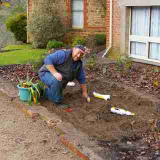 Andrew has had a career in Landscaping but due to a back injury he had to stop. The Power Planter lets him dig again.