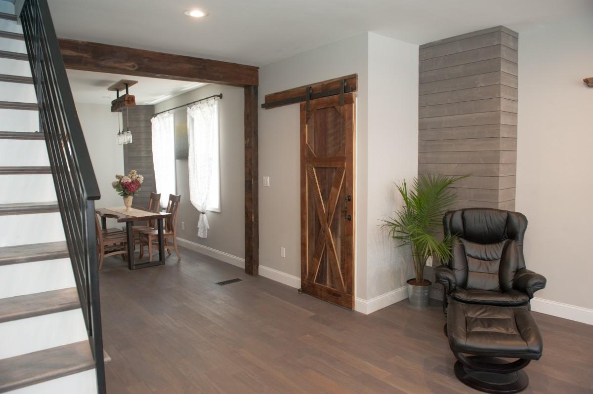 x style reclaimed barnwood barn door