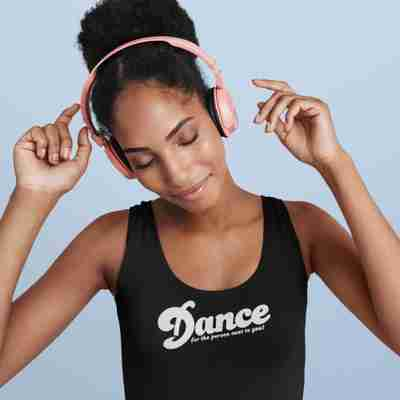 Dance For The Person Next To You Racerback Tank