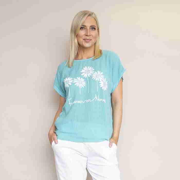 Camila T-Shirt (Aqua Green)