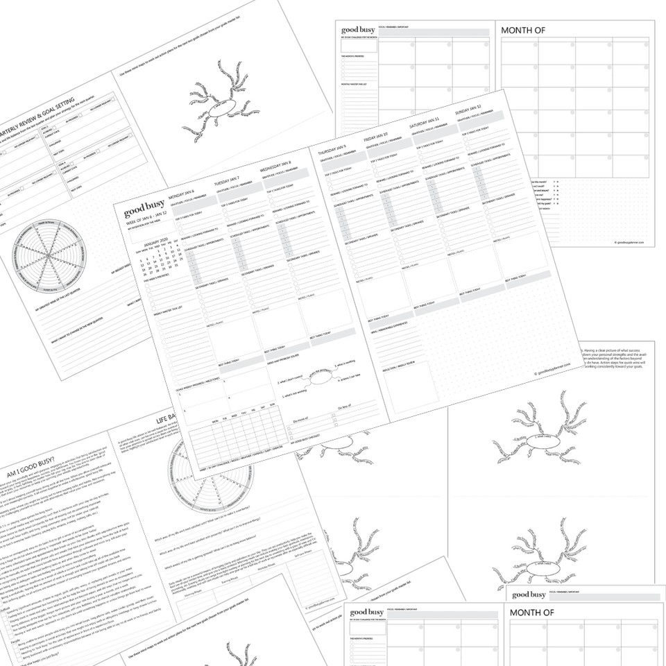 Good Busy Planner PDF download undated