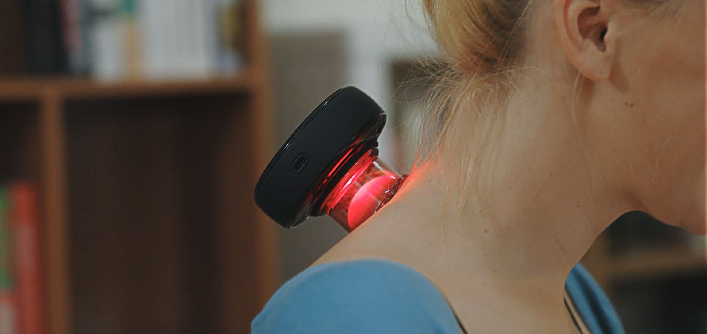 Cupping with red light therapy