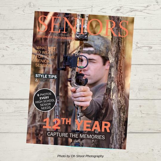 senior photography magazine template