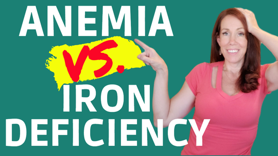 Anemia vs iron deficiency