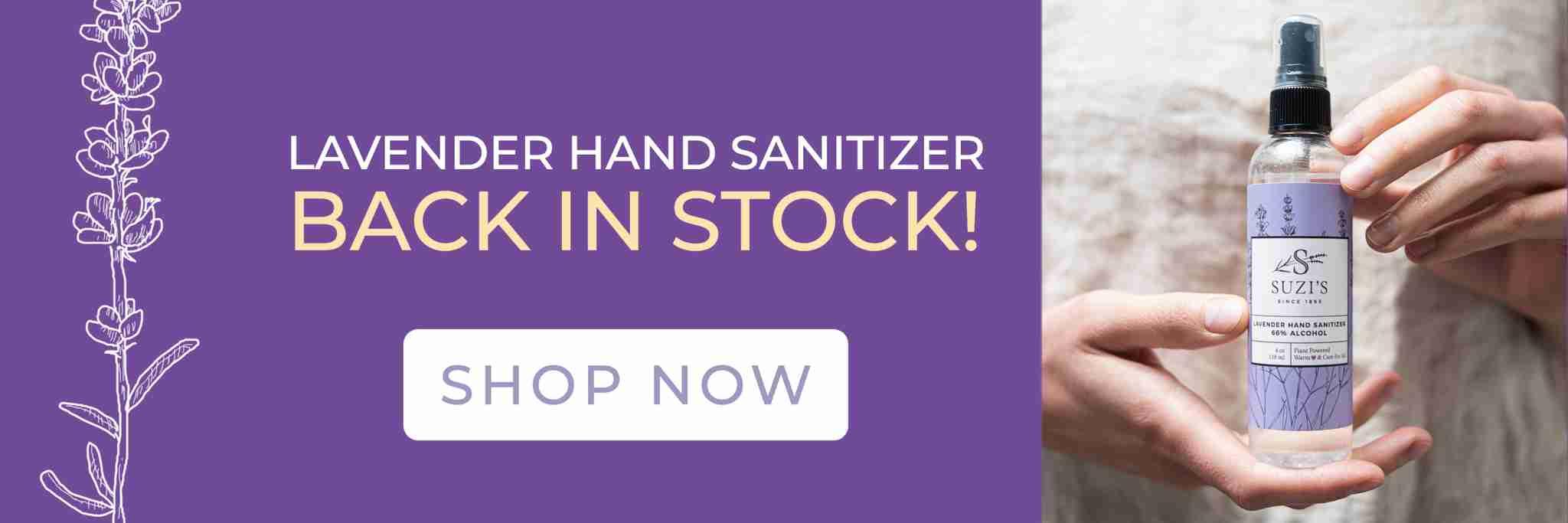 All Natural Non Drying Lavender Hand Sanitizer - Suzi's Lavender