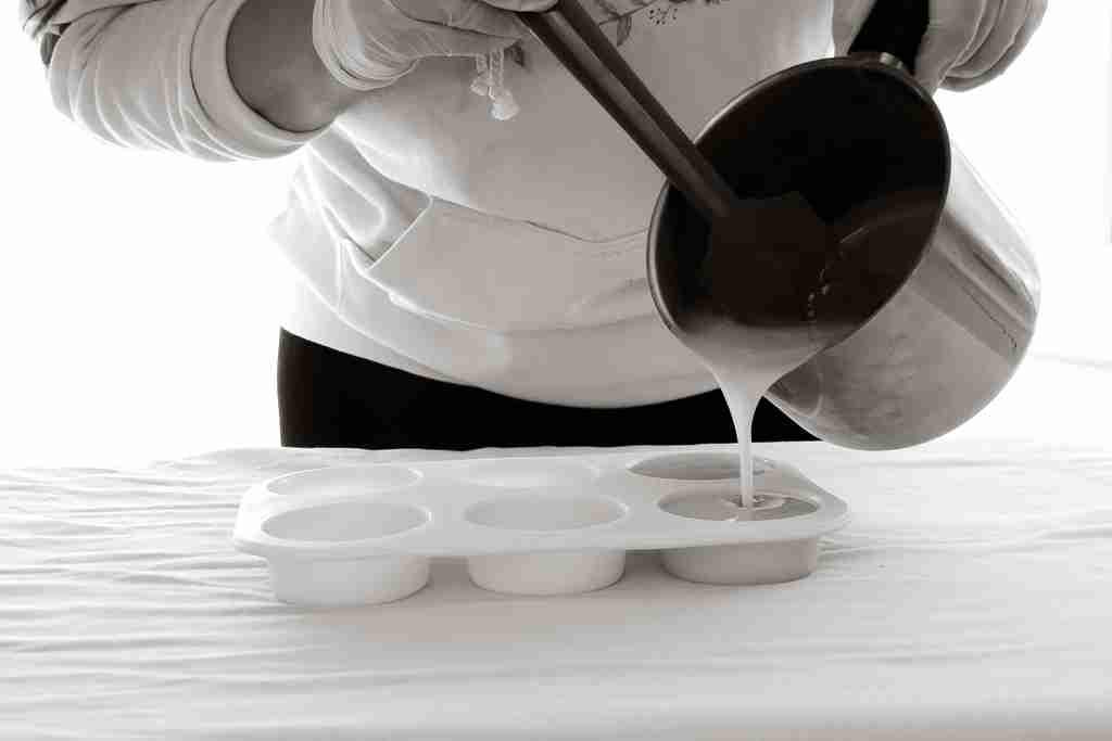 Agne Klein pouring soap
