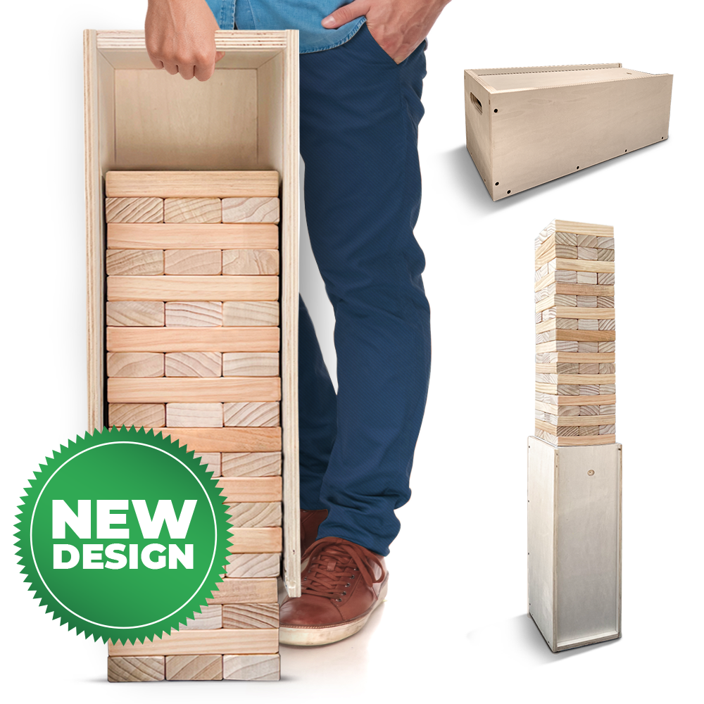 Giant Tower Game With Straightener, Table & Storage Box