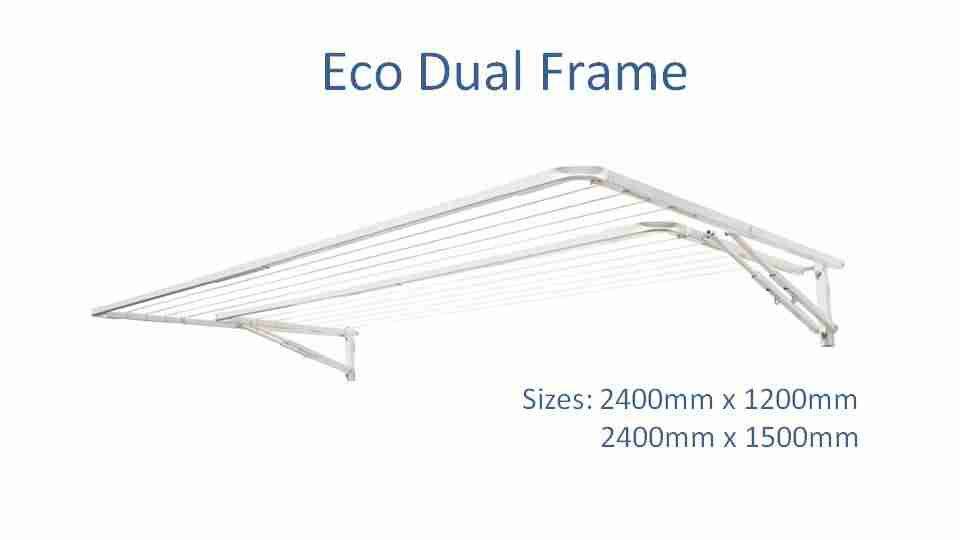 eco dual frame 2400mm wide dimensions