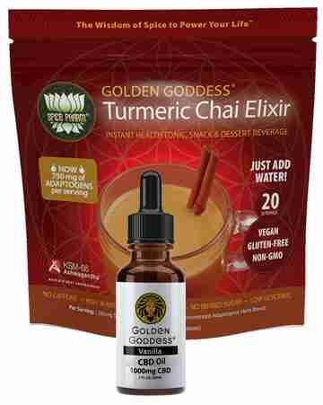 1 Pair Golden Goddess® CBD Oil + Turmeric Chai Elixir
