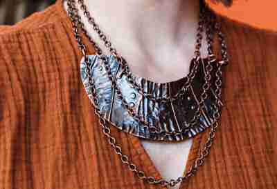 Copper Statement Necklace by Junebug Jewelry Designs