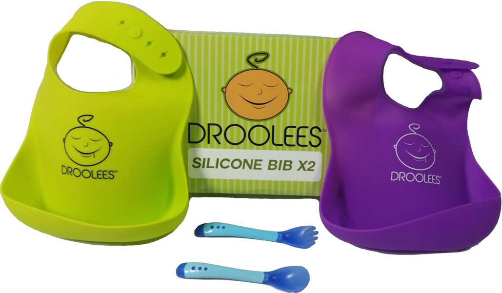 Droolees Silicone Bibs x2