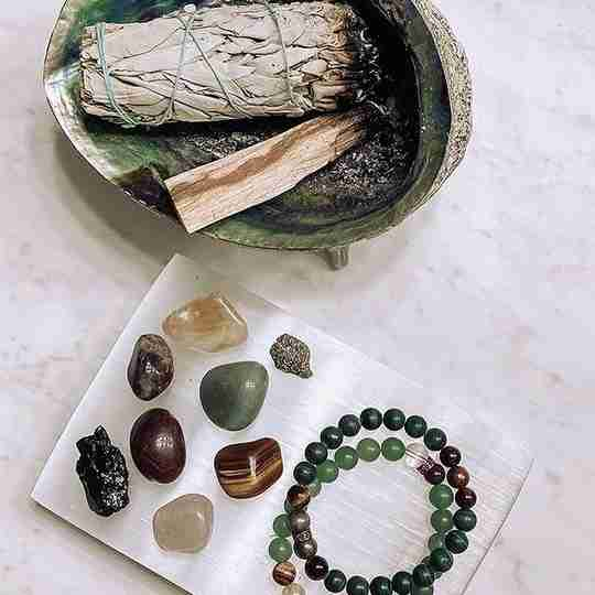 Bracelets and stones from Energy Muse