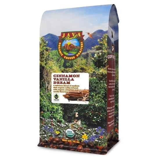 organic flavored coffee cinnamon vanilla fair trade certified