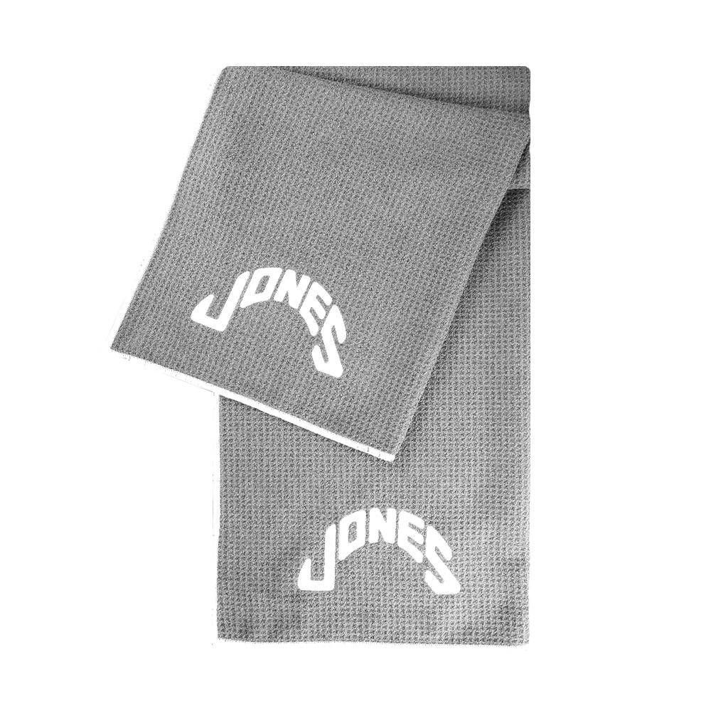 Jones Caddy Golf Towel - Grey/White