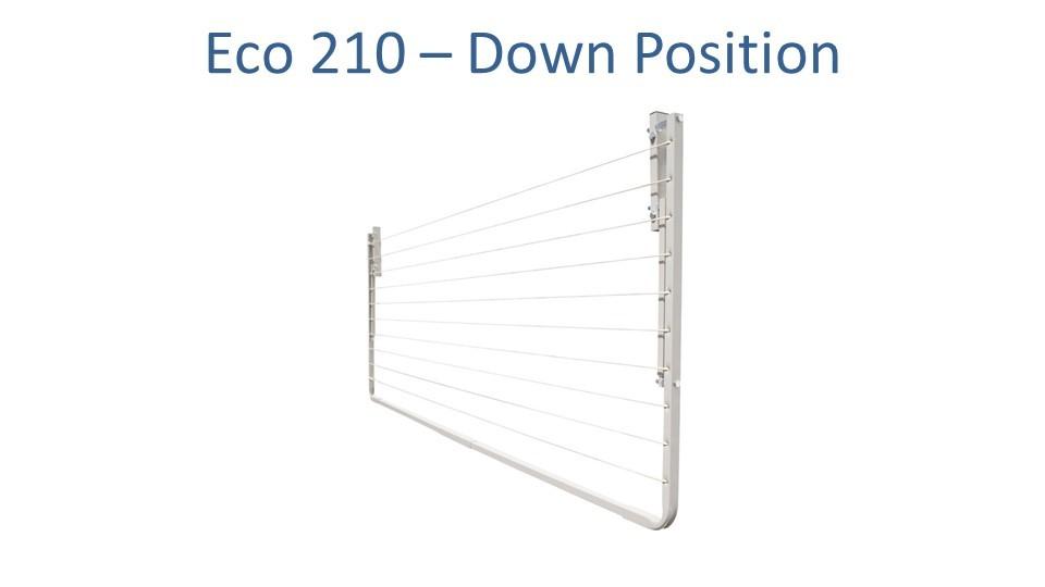 eco 210 190cm wide clothesline folded down