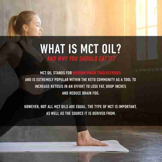 What is MCT Oil Woman Wearing Yoga Clothes Doing Yoga