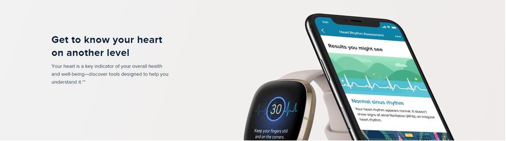 Fitbit Sense Heart Rate Tracking ECG APP