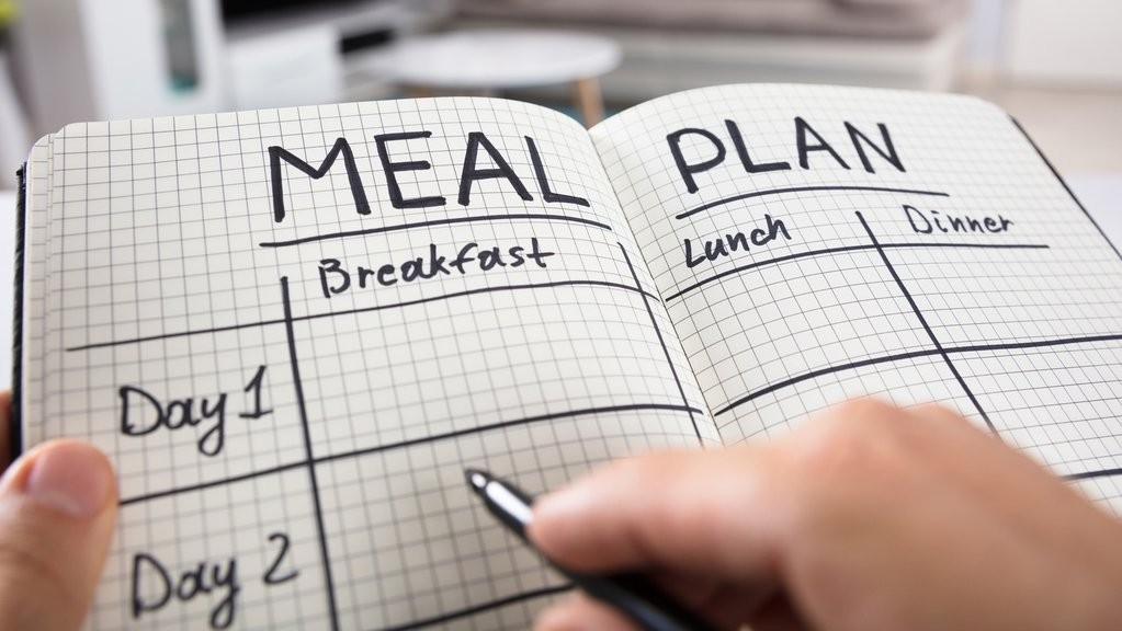 Image of meal plan notebook