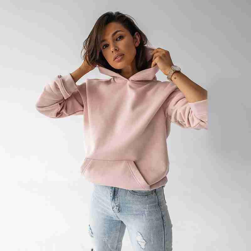 Ellie Oversized Hoody(Pink Salt)