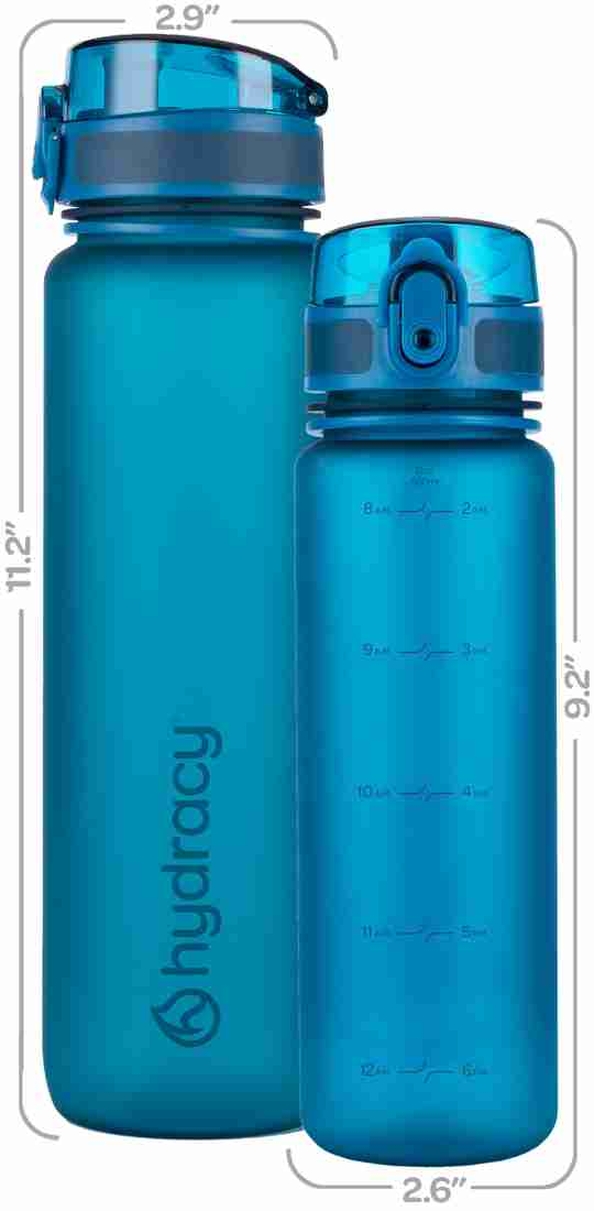 Sports Water Bottle with Time Marker 32oz Midnight Blue