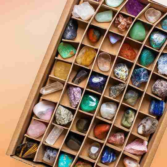 A box of crystals from Energy Muse
