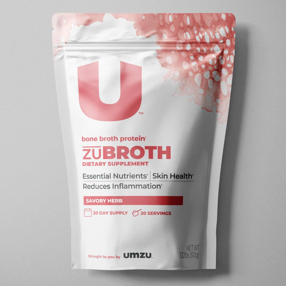 Front view of Total Bone Broth supplement bag