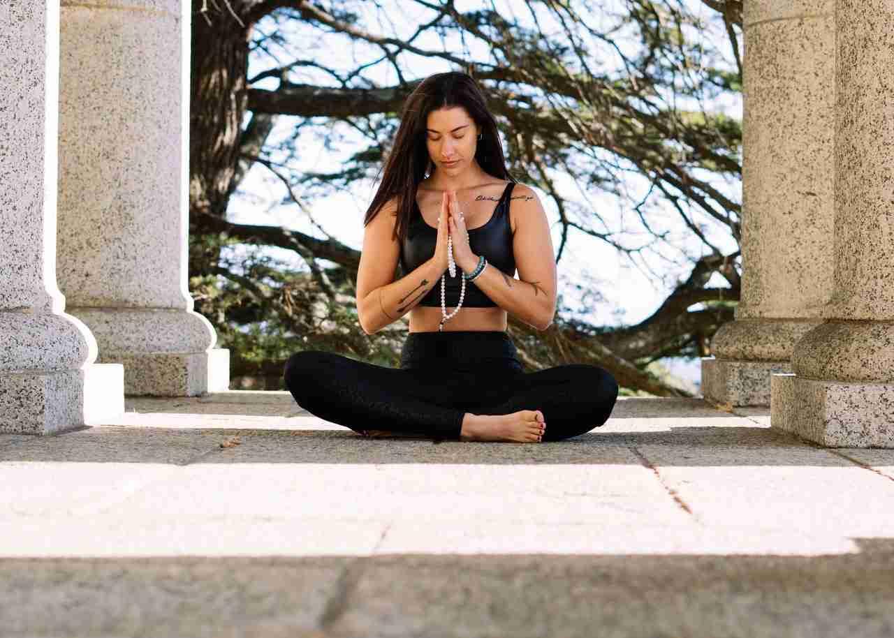 Mindfulness peaceful girl