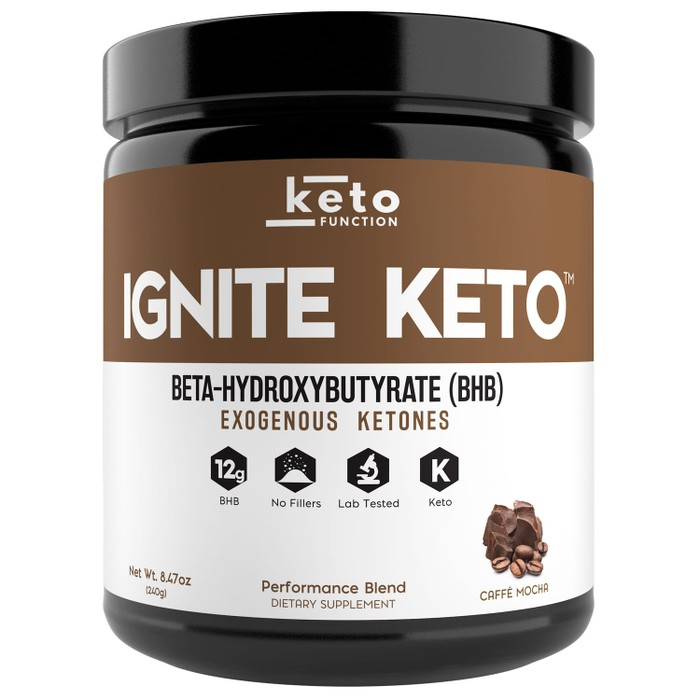 ignite keto best exogenous ketones bhb caffe mocha chocolate coffee base