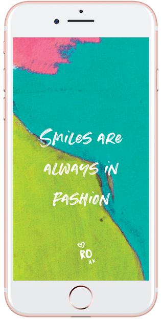 Smiles Are Always In Fashion - Ruby Olive Wallpaper