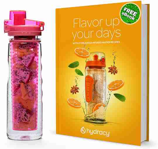 Infuser Water Bottle 25oz - Lollipop Pink - Ebook