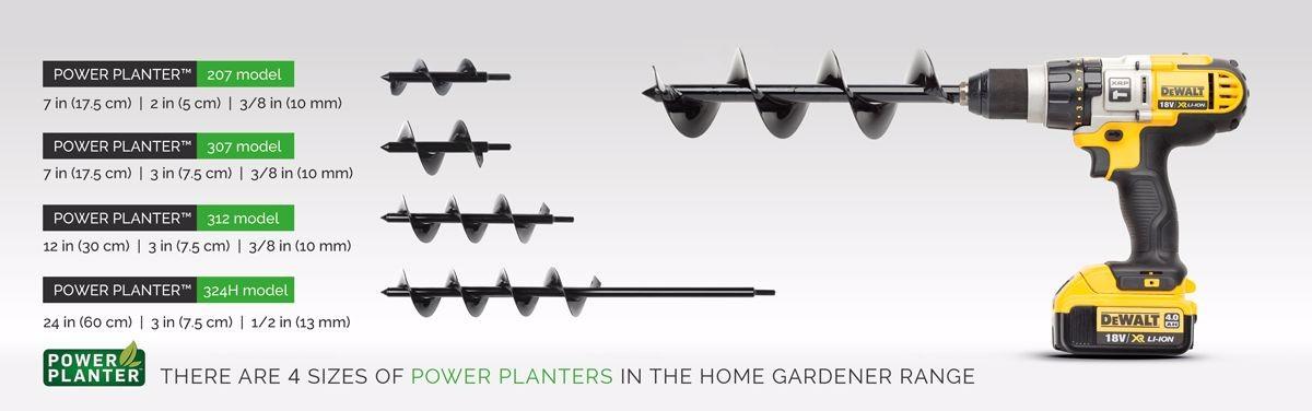 Power Planter Sizes