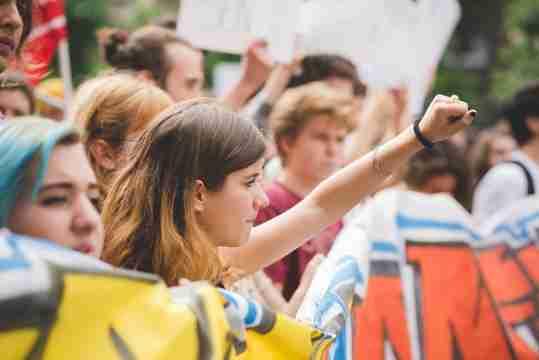 Student manifestation in Milan