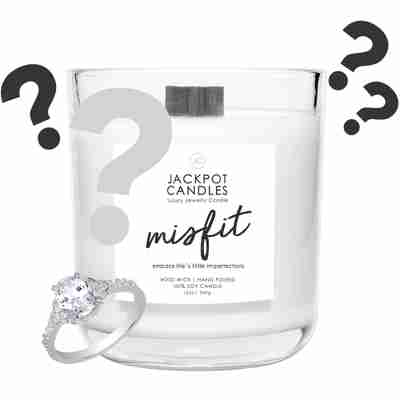 misfit wooden wick candle