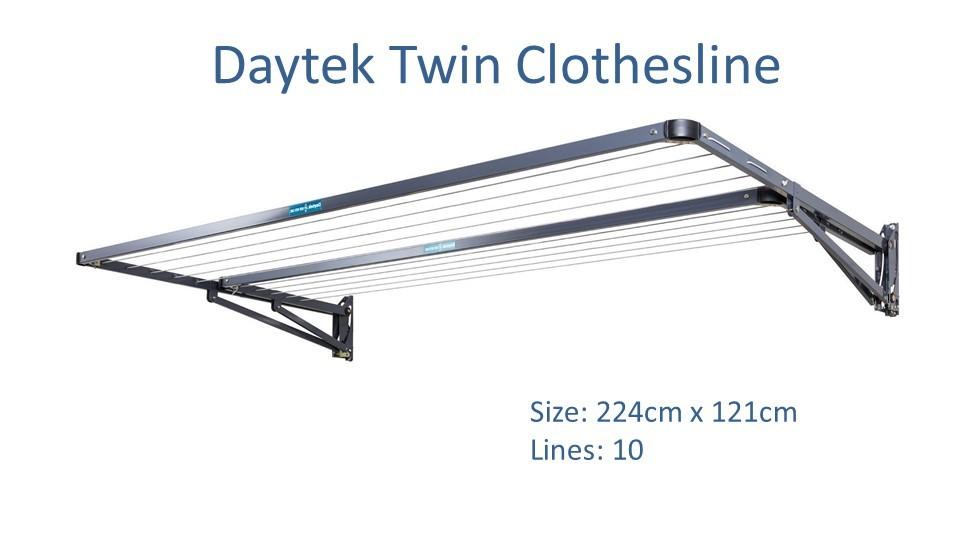daytek twin 220cm wide clothesline dimensions