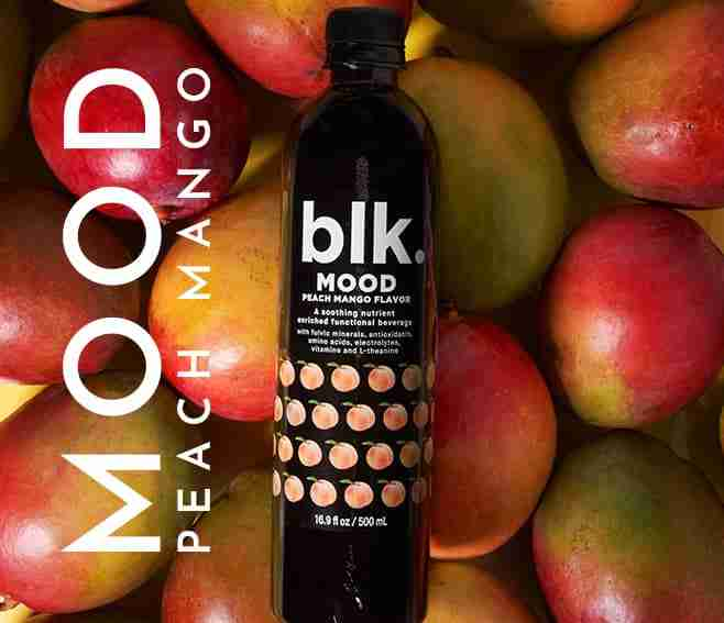 blk. Mood Peach Mango Excellent For Boosting Immune System All Natural Spring Water
