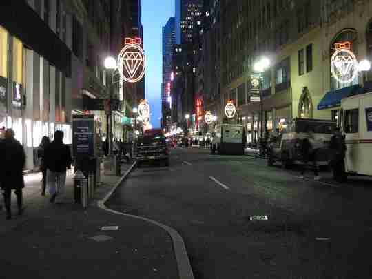 Street view of the NYC Diamond District