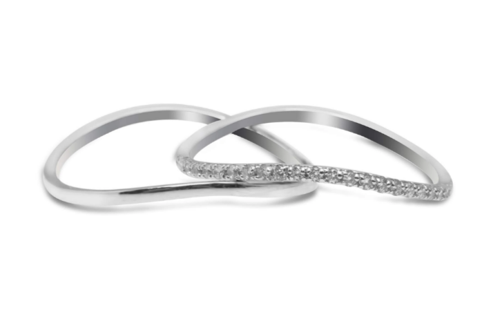 Silver midi knuckle ring