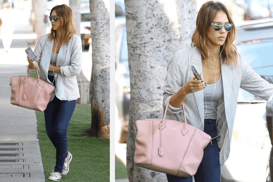 Jessica Alba Louis Vuitton Soft Lock It Bag