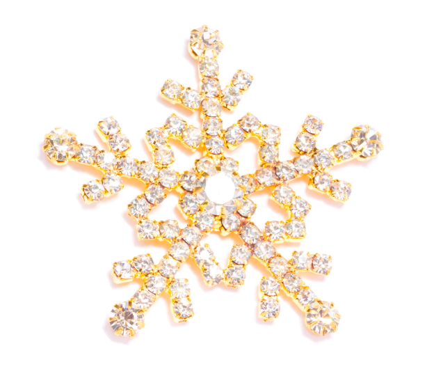 Gold Snowflake Flat Back