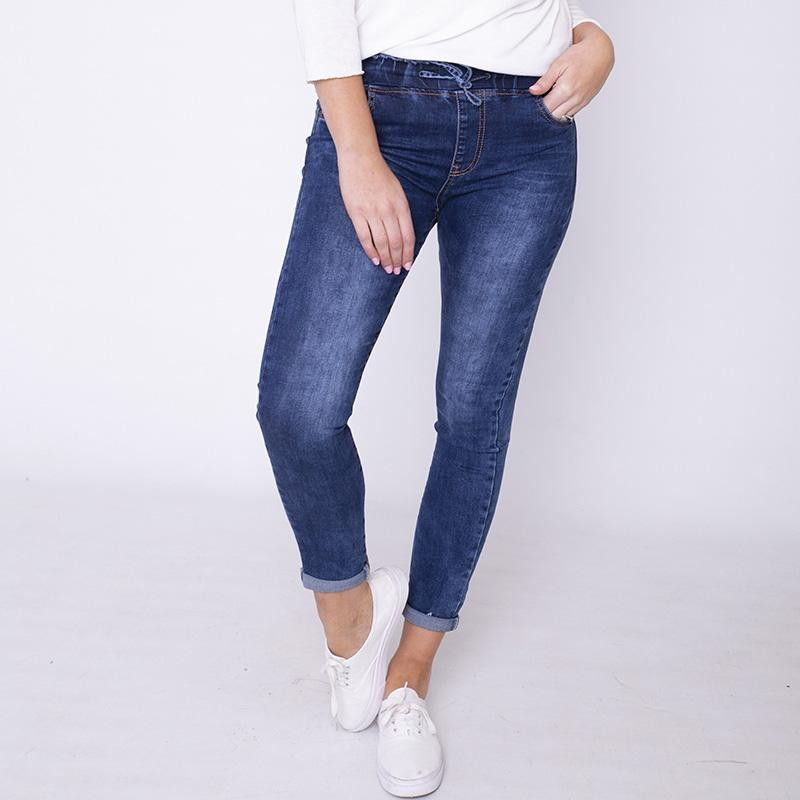 Curve Dana Drawstrings Jeggings Denim