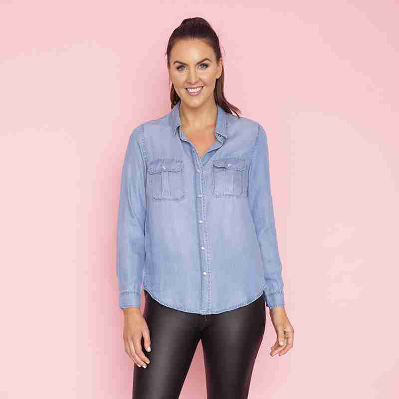 Charlie Shirt(Denim)