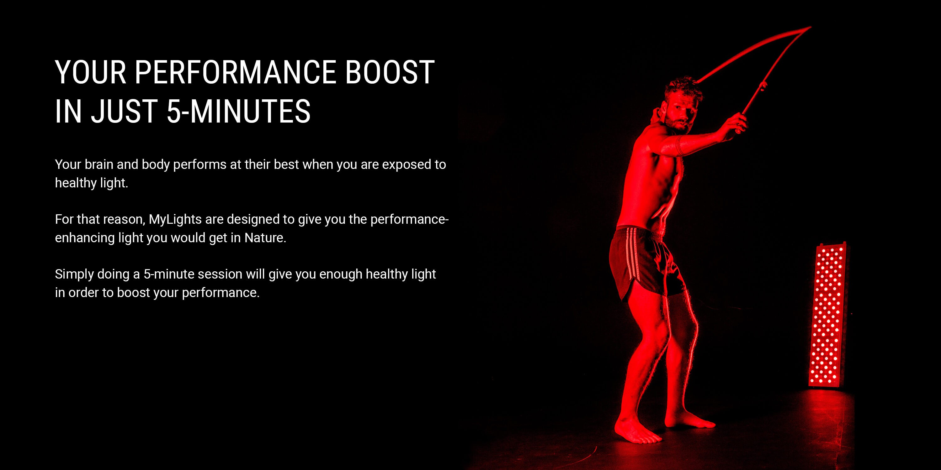 Performance boost with red light therapy