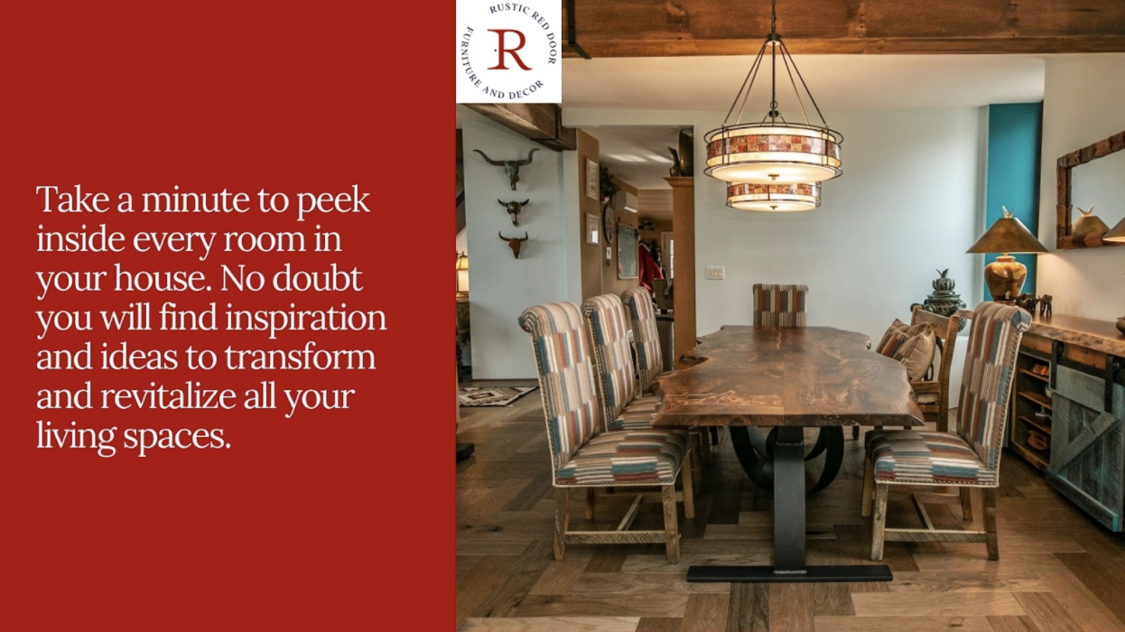 rustic style dining room setting
