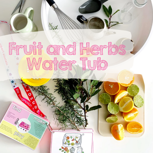 Invitations to Play | Fruit and Herbs Water Tub
