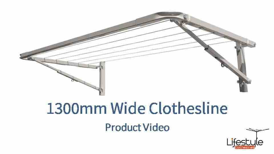 1300mm wide clothesline product link