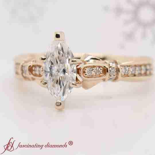 A gold diamond ring