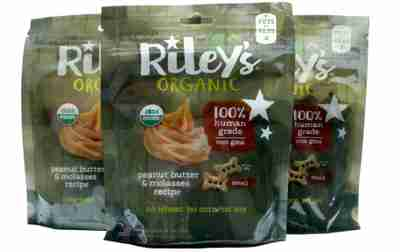 Riley's Organic 3 pack Peanut Butter & Molasses Bags: SMALL