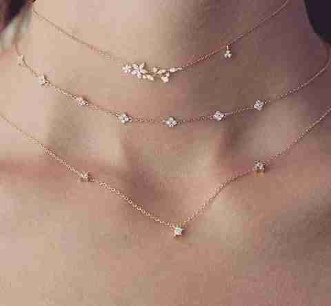 Clementine 3-in-1 choker necklace