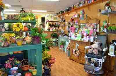 A full view of a florist shop